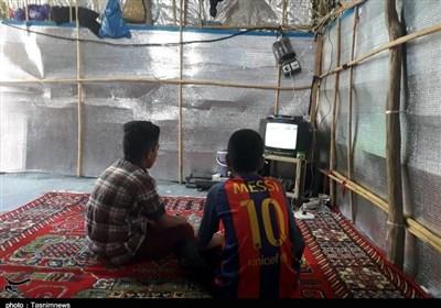 جام جهانی فوتبال در مناطق زلزلهزده استان کرمانشاه به روایت تصویر