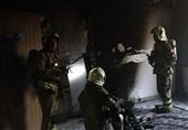نجات 6 زن و مرد در آتشسوزی ساختمان 5 طبقه + تصاویر