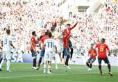 جام جهانی 2018  برتری مطلق اسپانیا مقابل روسیه در آمار در شب حذف
