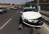 تصادف شدید پژو پارس و تیبا در بزرگراه بابایی + تصاویر