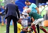 جام جهانی 2018  واکنش تند مکزیکیها به «نمایش اغراقآمیز» نیمار در کنار زمین: فوتبال جای دلقکها نیست!