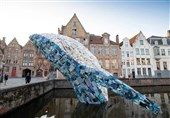 Whale Sculpture Aims at Showing Gravity of Plastic Waste Problem in Ocean