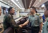دیدار اعضای هیئت نظامی چین با فرمانده نیروی زمینی ارتش