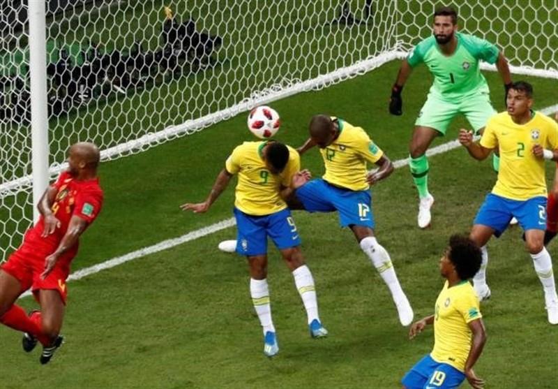 جامجهانی 2018  پیروزی بلژیک بر برزیل در نیمه نخست