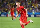جام جهانی 2018|دیبروینه بهترین بازیکن دیدار برزیل و بلژیک شد