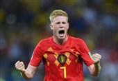 جام جهانی 2018| دیبروینه: 15 دقیقه آخر بازیمان مقابل برزیل آزمون شخصیت بود و ما سربلند از آن خارج شدیم