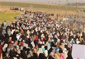 فلسطین| آغاز حرکت مردم غزه به سمت چادرهای بازگشت