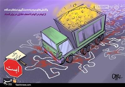 کاریکاتور/ واکنشها به «دستگیری سلطان سکه»