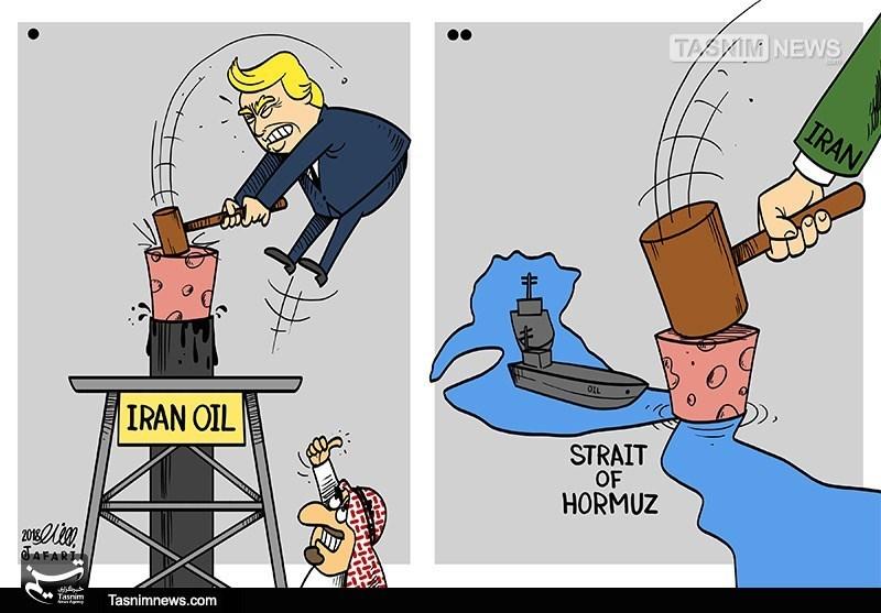 کاریکاتور/ هراسجهان از پیامدهای بستنتنگههرمز