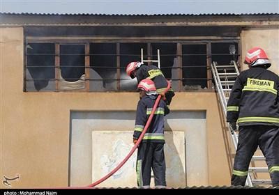 آتش سوزی ساختمان تجاری در چهارراه ولیعصر