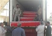 کاروان 60 شهید تازه تفحص شده دفاع مقدس راهی مرزهای ایران+ فیلم