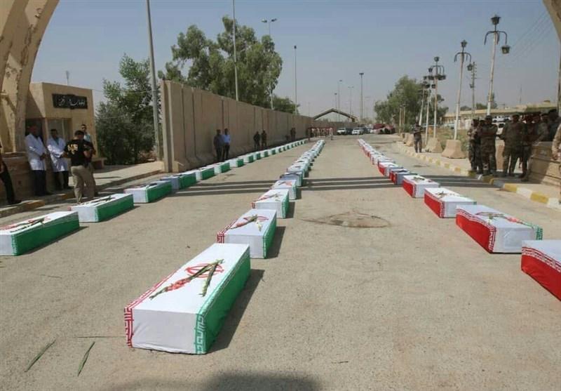 پیکر 115 شهید تازه تفحص شده از راه دریایی اروند وارد خاک ایران شد