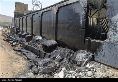محل تصادف مرگبار نفتکش و اتوبوس در سنندج
