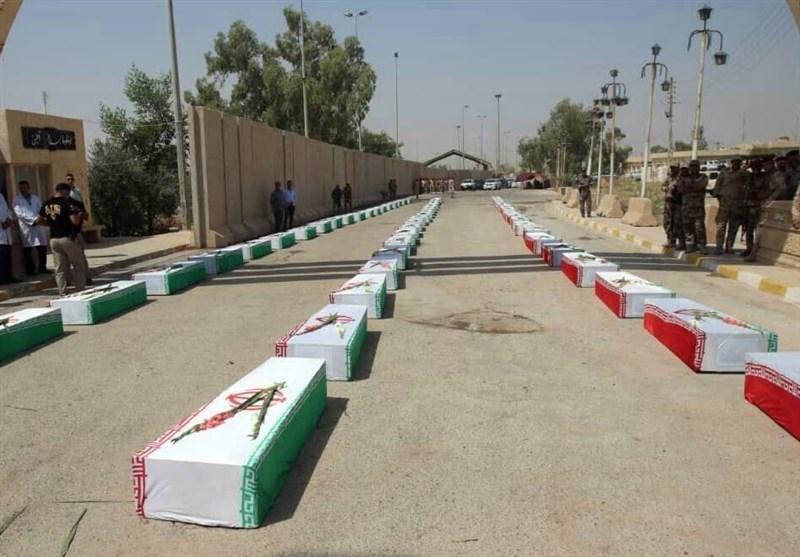 کرمانشاه| ورود پیکر مطهر شهدای دفاع مقدس از مرز خسروی