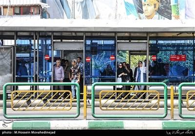 تهران در یک روز گرم تابستانی