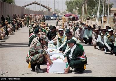 ورود پیکر ۶۰ شهید دفاع مقدس از مرز خسروی