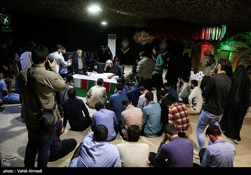 مراسم وداع با پیکر شهید تازه تفحص شده دفاع مقدس محمد عمویی