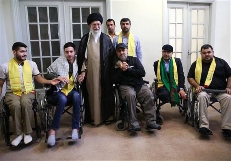 حزب اللہ لبنان کے جانبازوں کی امام خامنہ ای سے ملاقات + تصویر