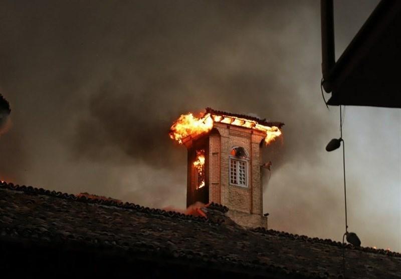 روایت تصویری آتش سوزی مسجد جامع ساری