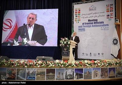 سخنرانی محمد ناصر نیکبخت استاندار همدان در اجلاس مشترک مسئولان کشوری و سفرای خارجی مقیم ایران