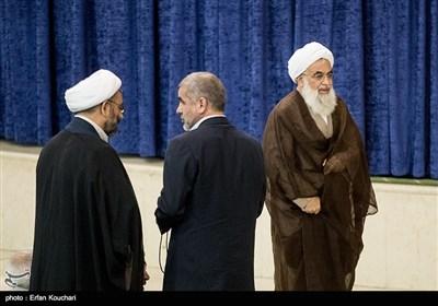 حجت الاسلام علی فلاحیان و علی نیکزاد در نماز جمعه تهران
