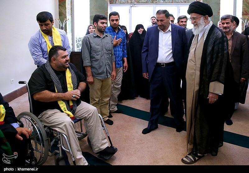 لقاء جرحى المقاومة الإسلامیة فی لبنان بالإمام الخامنئی