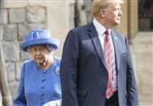 ترامپ ملکه انگلیس را پشت سرش جا گذاشت+ فیلم و عکس