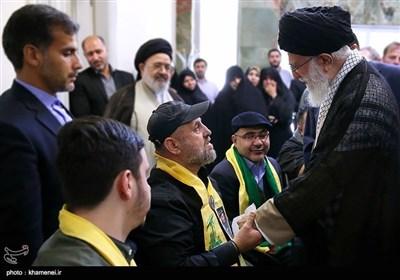 امام خامنہ ای کیساتھ حزب اللہ لبنان کے جانبازوں کی ملاقات