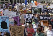Protests Held in Glasgow as Trump Lands in Scotland