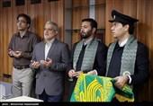 استقبال از خادمان و پرچم متبرک آستان رضوی در خبرگزاری تسنیم+تصاویر