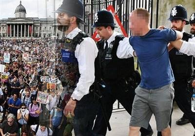 بازداشت 6 نفر از تظاهرات کنندگان ضد ترامپ در لندن
