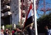 برافراشته شدن پرچم ملی سوریه بر خاستگاه فتنه بزرگ شام