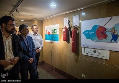 بازدید وزیر ارشاد از نمایشگاه های حوزه هنری +عکس