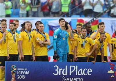 جام جهانی 2018| مراسم اهدای مدال به تیم ملی بلژیک + تصاویر