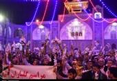 خوزستان| مردم اندیمشک حرم حضرت معصومه(س) را گلباران کردند