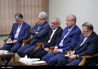 دیدار رئیس جمهور و اعضای هیئت دولت با مقام معظم رهبری