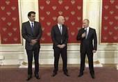 برگزاری مراسم انتقال میزبانی جام جهانی با حضور پوتین و امیر قطر