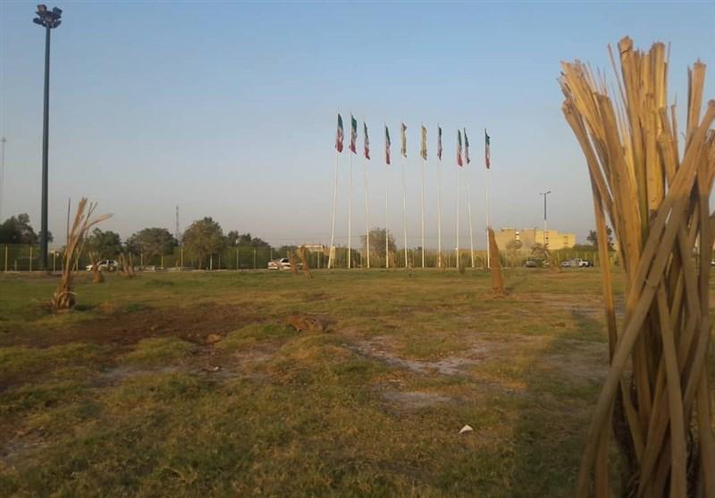 مرگ صدها نخل در چند قدمی سازمان پارکها و فضای سبز اهواز