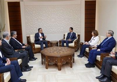 دیدار جابری انصاری با اسد؛ سیاست های کشورهای حامی تروریسم مانع حل بحران سوریه است