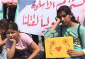 Gazan Children Stage Protest at Same Park Two Kids Killed by Israeli Airstrike