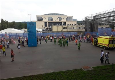 گزارش خبرنگار اعزامی تسنیم از روسیه| آماده سازی ورزشگاه لوژنیکی برای مراسم اختتامیه جام جهانی + عکس