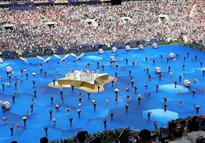 گزارش خبرنگار اعزامی تسنیم از روسیه| مراسم اختتامیه جام جهانی برگزار شد/ لام جام را آورد