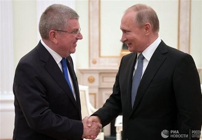 دیدار رئیس کمیته بینالمللی المپیک با پوتین در کرملین