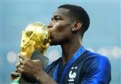 جام جهانی 2018| ادای احترام پوگبا به پدر فقیدش بعد از قهرمانی فرانسه + عکس