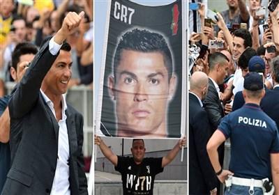 رونالدو در میان استقبال پرشور هواداران یووه وارد باشگاه یوونتوس شد