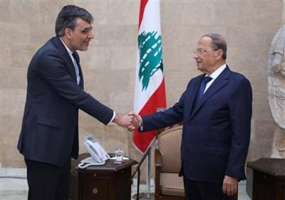 رایزنی های جابری انصاری در بیروت؛ تقدیر میشل عون از تلاش های ایران برای حل بحران سوریه