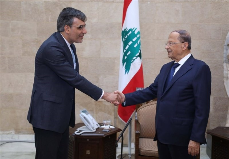 """عون لـ""""أنصاری"""": إلغاء الاتفاق النووی له تداعیات سلبیة على أمن واستقرار المنطقة"""