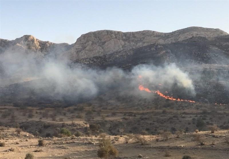 تداوم آتشسوزی در مراتع کوهدشت؛ مزارع سیلزده «رودبار» خاکستر شد
