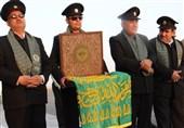 پرچم سبز حرم رضوی فضای استان کرمانشاه را عطرآگین کرد