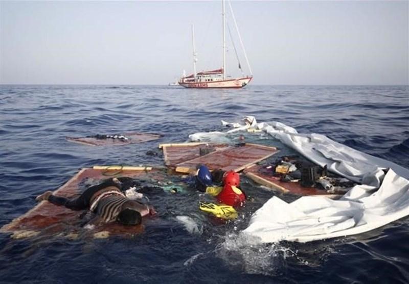 گارد ساحلی لیبی، یک زن و کودک را به کام مرگ فرستاد